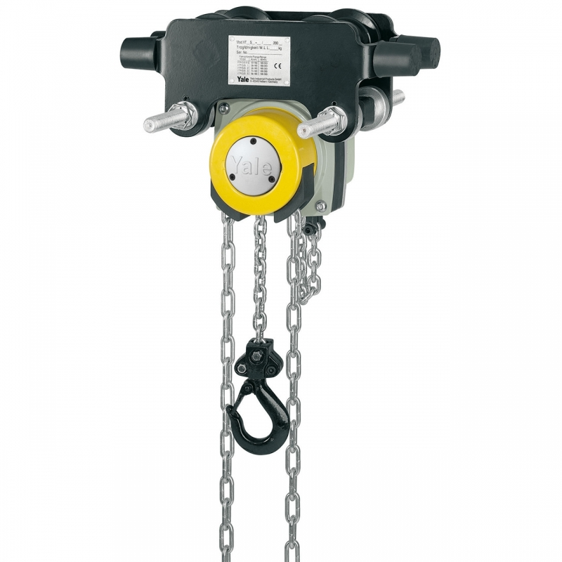 Zdjęcie / YL  ITP 2000B-Wciągnik łańcuchowy z napędem ręcznym ze zintegrowanym wózkiem pchanym
