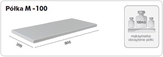 Półka stołu warsztatowego MASTER M-100